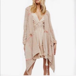 FREE PEOPLE All Washed Out /Sand Cardigan Sweater!